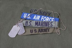 Military Bands with dog tags